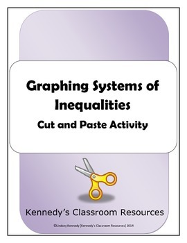 Graphing Systems of Inequalities - A Matching Cut-and-Past