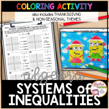 Graphing Systems Of Linear Inequalities Coloring Activity
