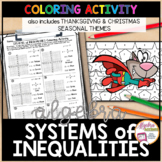 Graphing Systems of Linear Inequalities Coloring Thanksgiving Algebra Activity