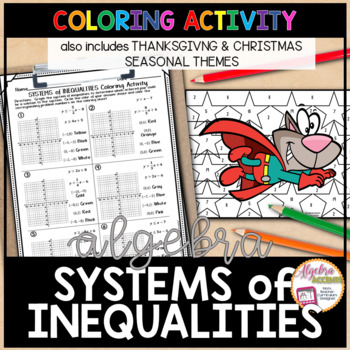 Graphing Systems of Linear Inequalities Christmas Algebra