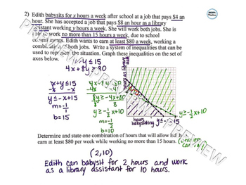 Graphing Systems of Inequalities Word Problems