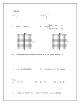 Graphing Systems of Inequalities and Properties CW (Algebra 2)