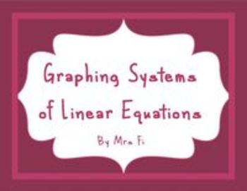 Systems of Linear Equations - Solving by Graphing with Technology