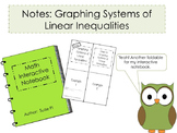Graphing Systems of Linear Inequalities Foldable for Inter