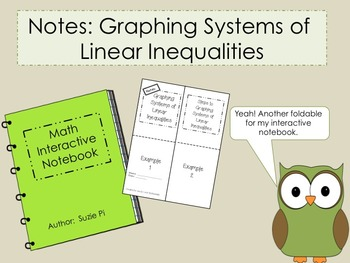 Graphing Systems of Linear Inequalities Foldable PowerPoin