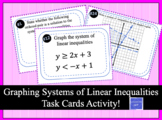 Graphing Systems of Linear Inequalities Task Cards