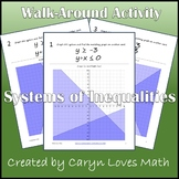 Graphing Systems of Inequalities Walk Around Activity-Scav