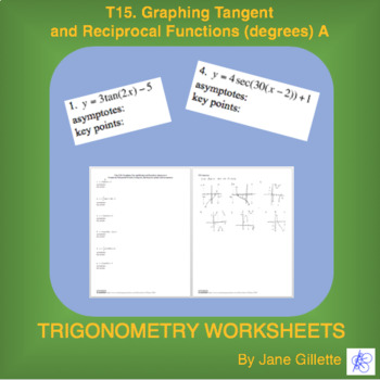 Graphing Tangent and Reciprocal Functions (degrees) A