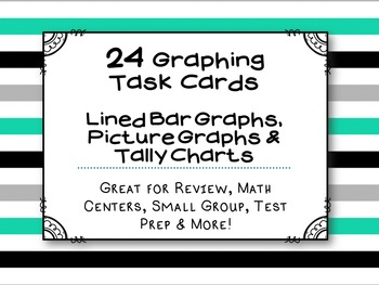 Graphing Task Cards : (24 Pack) CCSS Aligned with 3rd Grade - 3.MD.B.3