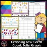 Graphing Task Cards - Count, Tally & Graph