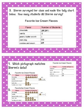 Graphing Task Cards Grade 3 NYS Module 6