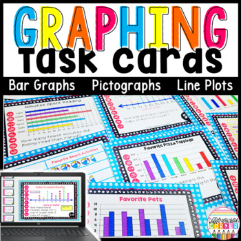 Graphing Task Cards: Line Plots,Bar Graphs and Pictographs