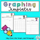 Graphing Templates: Tally Chart, Bar Graph, and Pictograph