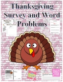 Thanksgiving Activities - Graphing, Word Problems and Writing