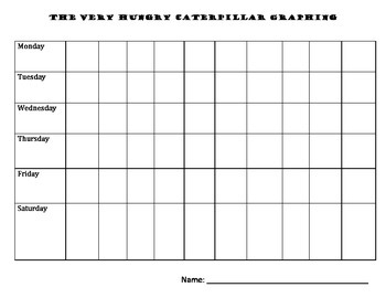 Graphing - The Very Hungry Caterpillar