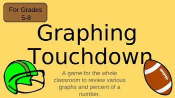Graphing Touchdown- a math game reviewing various types of graphs