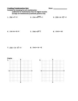 Graphing Transformations Quiz