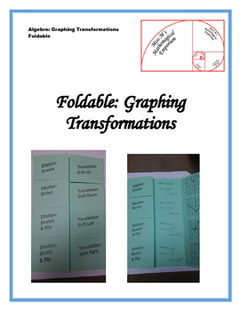 Graphing Transformed Equations Foldable