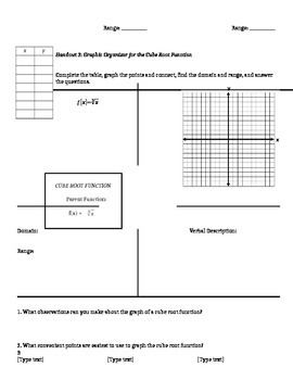 Graphing, Transforming and Applying Square and Cube Root Functions
