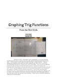 Graphing Trig Functions from the Unit Circle Poster Activity