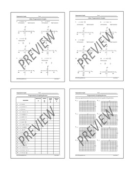 PreCalculus-Algebra 2: Graphing Trigonometric Functions Practice Plus Activity
