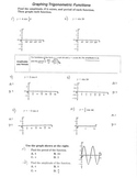Graphing Trigonometric Functions Amplitude and Periods Cosine Sine