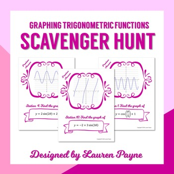 Graphing Trigonometric Functions Scavenger Hunt