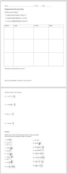 Graphing Trigonometric Inverses - PowerPoint, Notes, & Examples