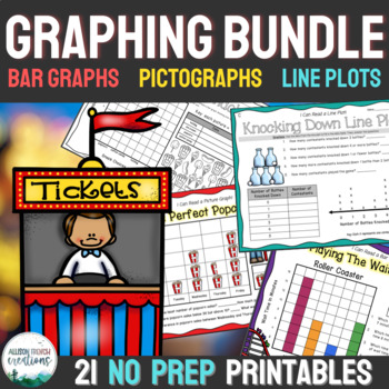 Graphing Unit 3rd Grade: Bar Graphs, Picture Graphs, Line Plots