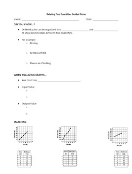 Graphing Unit Guided Notes (11 topics)