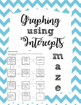 Graphing Using Intercepts Maze