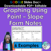 Graphing Using Point Slope Form Notes