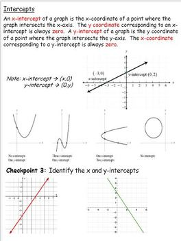 Graphing Utilities: the coordinate plane, intercepts, and interpreting graphs
