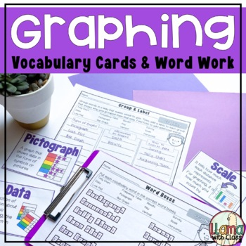 Graphing Vocabulary Cards and Word Work Activities