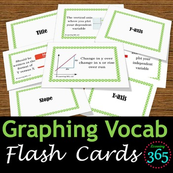 Graphing Vocabulary Flash Cards