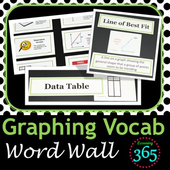 Graphing Vocabulary Interactive Word Wall