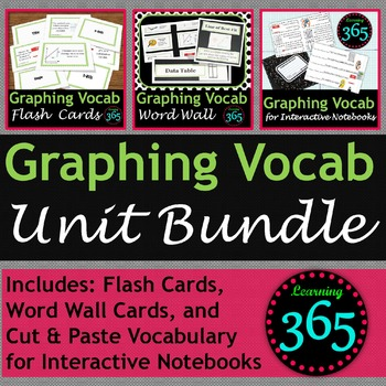 Graphing Vocabulary Unit Bundle