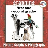 Graphing-Picture Graphs - Pictographs First and Second Grades No Prep Printables