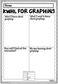 Graphing Word Wall Cards
