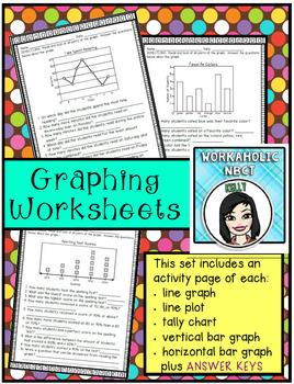 Graphing Worksheet Pages (bar graphs, line graphs, line pl