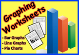 Graphing Worksheets (Bar Graph, Line Graph &  Pie Chart)