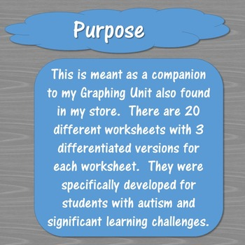 Graphing Worksheets for Special Education