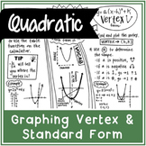 Graphing a Quadratic Function (Vertex and Standard Form) | Doodle Notes
