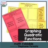 Graphing a Quadratic Function in Standard Form Math Foldable