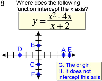 Graphing a Rational Function, 5 Intros and 6 Assignments for PDF