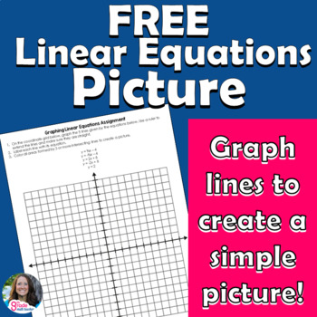 FREE Graphing Linear Equations Picture Assignment
