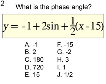 Graphing a Sinusoid in Degrees: Intro + 7 Assignments for