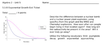 Graphing and Analyzing Exponential Growth and Decay Lesson Bundle