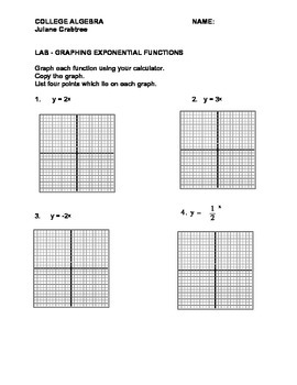 Pre-Calc:  Graphing and Comparing Exponential & Logarithmi
