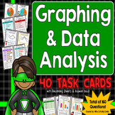 Graphing and Data Analysis Task Cards {Interpreting Graphs and Tables}